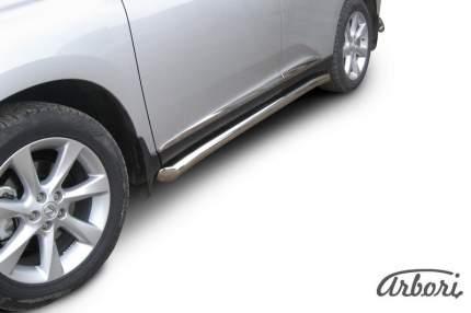 Защита порогов d76 труба с гибами Arbori нерж. сталь для Lexus RX350 2009-2012