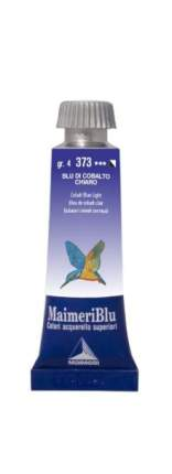 Акварельная краска Maimeri BLU 373 кобальт синий светлый 15 мл