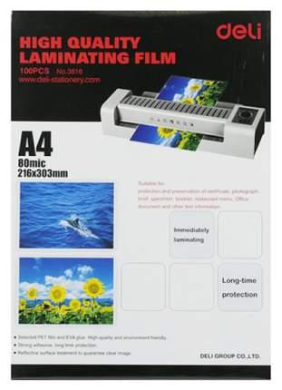 Аксессуар для ламинаторов Deli E3816 A4 80мкм 100шт