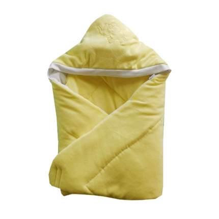 Конверт-одеяло Папитто велюр с вышивкой Желтый 2157