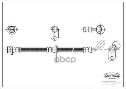 Тормозной шланг CORTECO 19032435