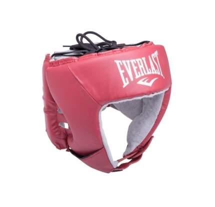 Шлем открытый Everlast USA Boxing 610400U, L, кожа, красный