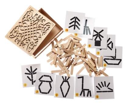 Развивающая игрушка Smile decor Мозаика из палочек Мой мир П706