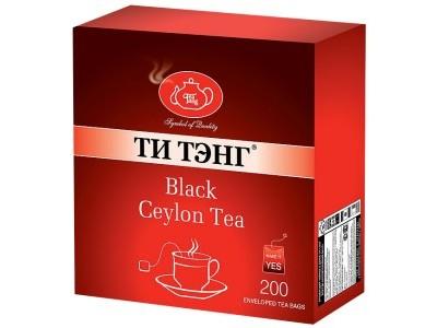 Чай черный в пакетиках для чашки в конвертах Ти Тэнг Black Ceylon Tea 200*2 г