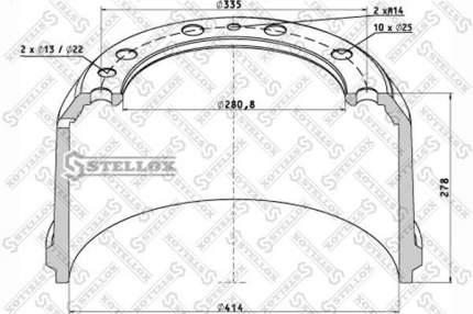 Тормозной барабан STELLOX 85-00060-SX