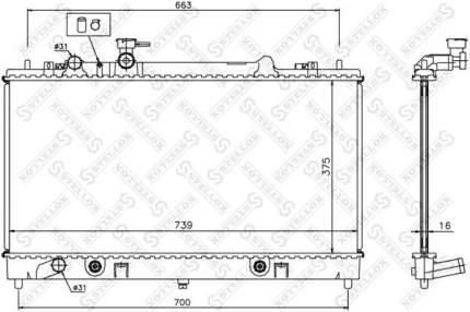 Радиатор охлаждения двигателя STELLOX 10-25852-SX