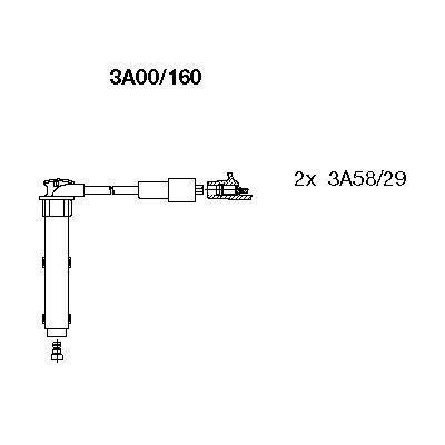 Комплект проводов зажигания BREMI 3A00/160