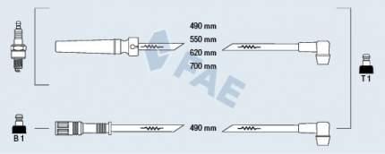 Комплект проводов зажигания FAE 85970