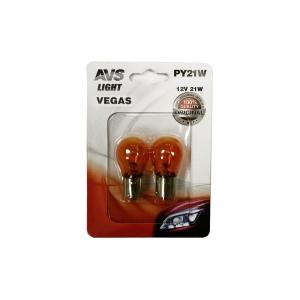 "Лампа AVS Vegas в блистере 12V. PY21W(BAU15S)""orange"" A78476S"
