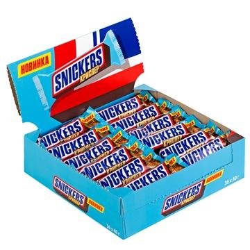 Шоколадный батончик Snickers Crisper 36 штук по 40 г