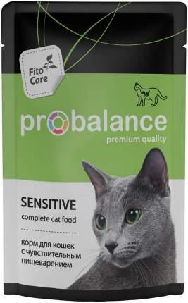 Влажный корм для кошек ProBalance Sensitive, мясо, 85г