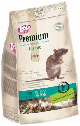 Сухой корм для крыс LoloPets, для декоративный, 750г