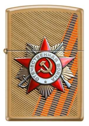 Бензиновая зажигалка Zippo Order of Patriotic War Brushed Brass