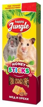 Лакомство для грызунов Happy Jungle Мед и орехи, Палочки, 3 шт., 50 г