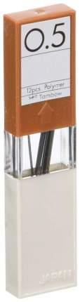 """Грифели для механических карандашей Tombow """"Mono"""", 0,5 мм, H, 12 штук"""