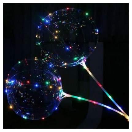 Светящийся воздушный шар c палочкой и led-гирляндой