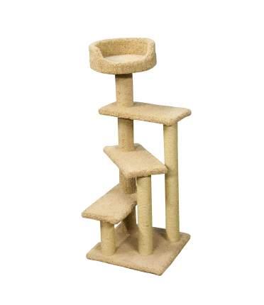 Комплекс для кошек ПУШОК Винтовая лестница, ковролин, бежевый