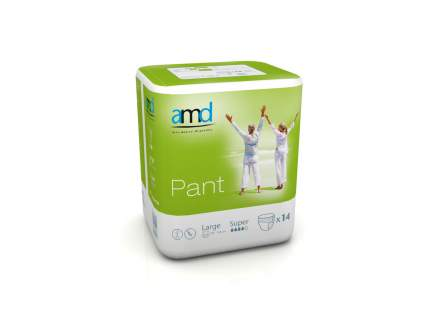 Подгузники-трусики для взрослых AMD Pant Super размер L 14 шт.