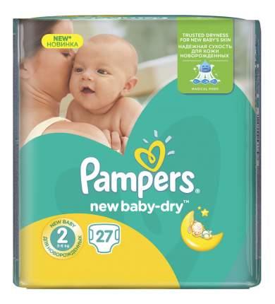 Подгузники для новорожденных Pampers New Baby-Dry 2 (3-6 кг), 27 шт.