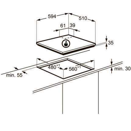 Встраиваемая варочная панель газовая Zanussi ZGX566424W White