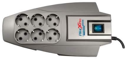 Сетевой фильтр Pilot X-Pro, 6 розеток, 1,8 м, Grey