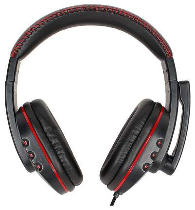 Игровая гарнитура nakatomi HS-T50MV Red/Black