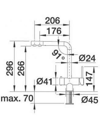 Смеситель для кухонной мойки Blanco FONTAS 518505 серый шёлк