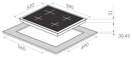 Встраиваемая варочная панель газовая MAUNFELD MGHG 64 17I(D) Beige