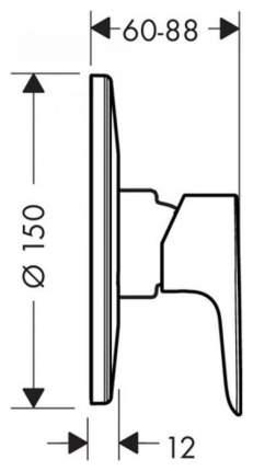 Смеситель для встраиваемой системы Hansgrohe Talis E 71766000 хром