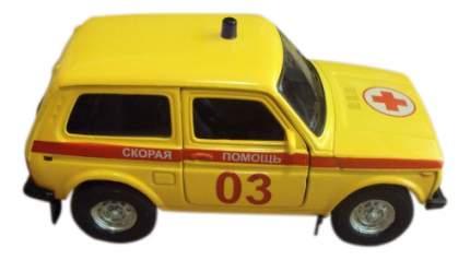 Коллекционная модель Lada 4x4 Скорая помощь Autotime 37027 1:36