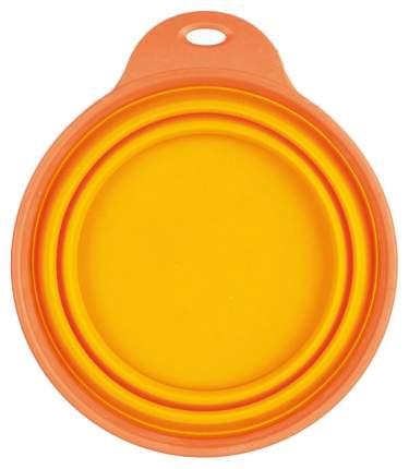 Одинарная миска для животных TRIXIE, силикон, оранжевый, 0.5 л
