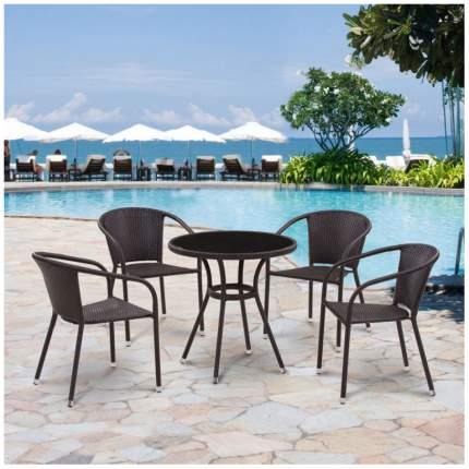 Комплект мебели Afina Garden T282BNS/Y137C-W53 Brown (4+1)