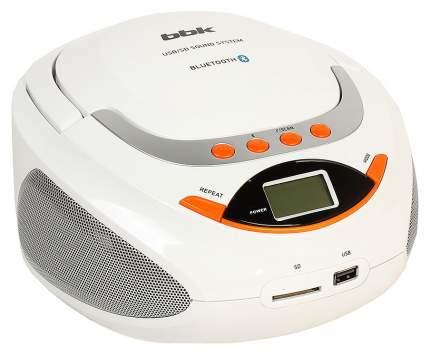 Магнитола BBK BS 09 BT Белый, оранжевый