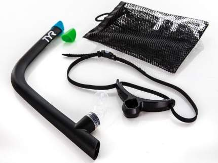 Трубка для плавания TYR Ultralight Snorkel 2.0 LSNRKL2 черная (001)