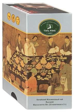 Чай зеленый Тянь-Жень жасминовый китайский байховый 100 г