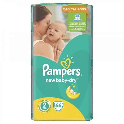 Подгузники для новорожденных Pampers New Baby-Dry mini (3-6 кг), 66 шт.