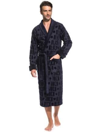 Мужской махровый халат Black Jack Peche Monnaie 937, темно-синий, L