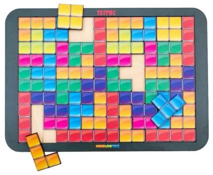 Логическая игра WoodLand Тетрис большой цветная мозайка