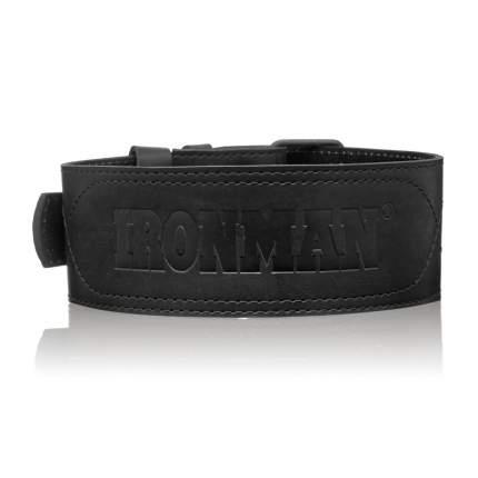 Пояс для тяжелой атлетики паурлифтерский Ironman черный, M