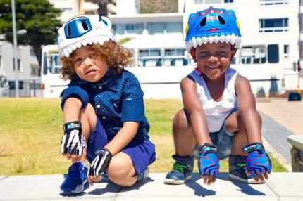Шлем защитный детский Crazy Safety 2017 Blue Dragon синий