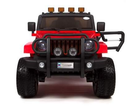 Детский электромобиль Barty Jeep Wrangler Т555МР полный привод (4х4), Красный