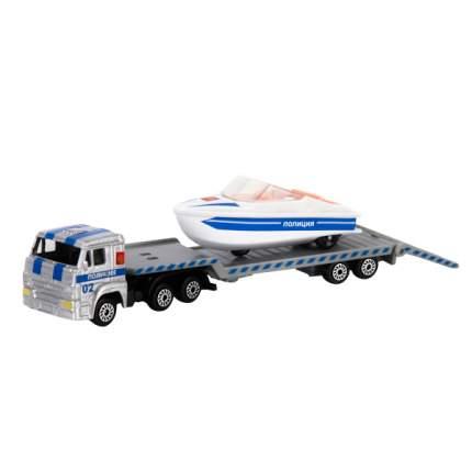 Игровой набор Технопарк Полиция с лодкой