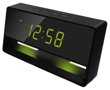 Часы-будильник UNIEL UTL-45GKx Черный Зеленый