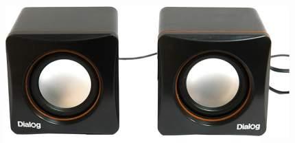 Колонки компьютерные Dialog Colibri AC-04UP 6Вт USB черно-оранжевые