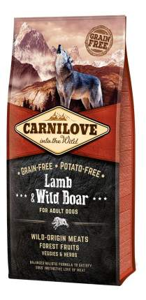 Сухой корм для собак Carnilove For Adult Dogs, кабан, ягненок, 12кг