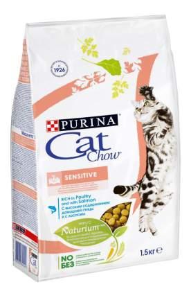 Сухой корм для кошек Cat Chow Special Care Sensitive, птица, лосось, 1,5кг