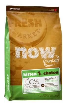 Сухой корм для котят NOW Grain Free, индейка, утка, овощи, 3,63кг
