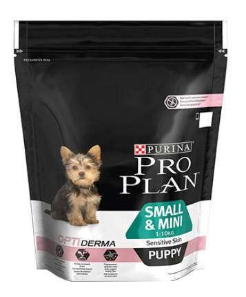 Сухой корм для щенков PRO PLAN OptiDerma Small&Mini Puppy, для мелких пород, лосось, 0,7кг