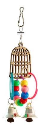 Подвеска для птиц Triol, Клетка с колокольчиками, Пластик, Дерево,