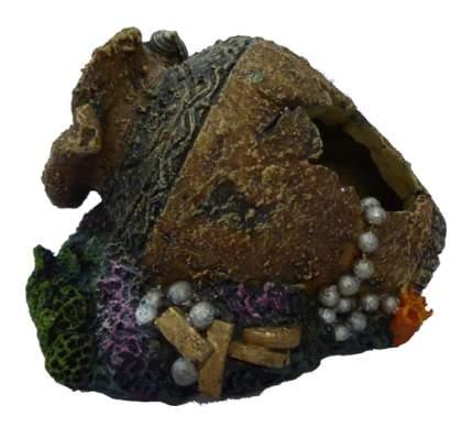 Грот для аквариума МЕЙДЖИНГ АКВАРИУМ Кувшин с сокровищами, полиэфирная смола, 12х11х8 см